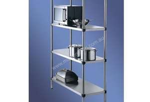 S/Steel Adjustable Storage Shelving 4 Tier