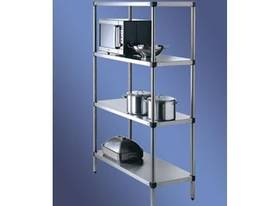 S/Steel Adjustable Storage Shelving 4 Tier - picture0' - Click to enlarge