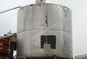 Cone bottom top stainless process vessel tank