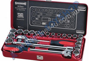 SOCKET SET 24PC 1/2