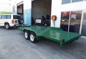 NEW 17×6 FLAT DECK CAR TRAILER WITH BRAND NEW TYRE