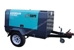 AIRMAN PDS185S-6C2-T 185cfm Towable Portable Air Compressor