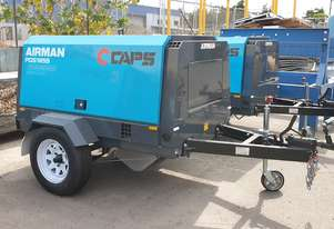 AIRMAN PDS185S-6C2-T 185cfm Trailer mounted Portable Diesel Air Compressor