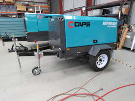 AIRMAN PDS185S-6C2-T 185cfm Trailer mounted Portable Diesel Air Compressor - picture2' - Click to enlarge