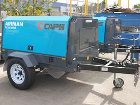 AIRMAN PDS185S-6C2-T 185cfm Trailer mounted Portable Diesel Air Compressor - picture0' - Click to enlarge