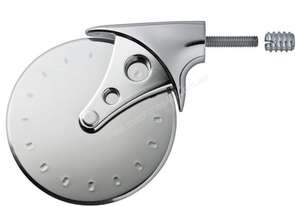 Rockler Stainless Steel Pizza Cutter Turning Kit with Chrome Finish