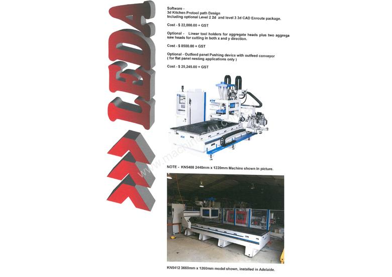 Flat Bed Router & Complete Door or Bench/Table Top Manufacturing Solution