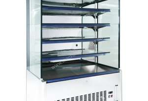 F.E.D. DC-1500N Refrigerated Stainless Steel 5 Levels Open Merchandiser