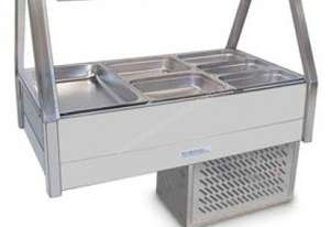 Roband ERX25RD Straight Glass Food Bar - Refrigerated Cold Plate & Cross Fin Coil