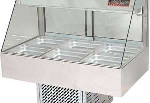Woodson W.CFS24 Cold Food Bar - Straight Glass 1355mm