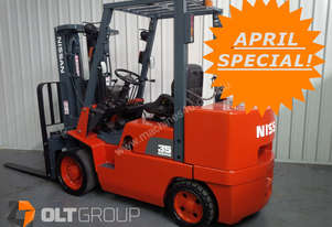 Nissan 3.5 ton forklift with container mast and sideshift new 1220mm tynes