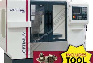 F80TC Opti-Mill Optimum CNC Milling Machine Package Deal (X) 400mm (Y) 250mm (Z) 400mm