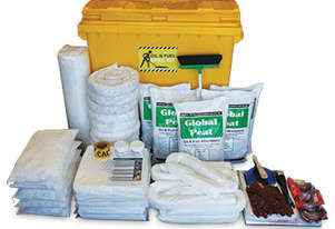 Oil & Fuel Spill Kit. 770L absorbent capacity - Large mobile bin