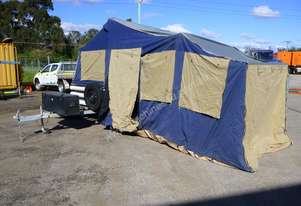 2013 John Papas Off Road Box Trailer with OzTrail Camper 12 Trailer Top Tent IN AUCTION