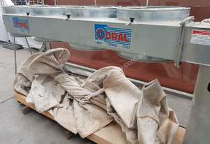 CORAL 4 BAG DUST EXTRACTOR Model CA/4C, 7.5hp, In-Line, Galvanised Frame, Heavy Duty, Mobile *SOLD*