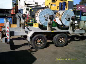 6ton tandem HD abc cable drum trailer 3 drum rewind - picture0' - Click to enlarge