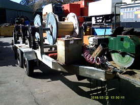 6ton tandem HD abc cable drum trailer 3 drum rewind - picture1' - Click to enlarge