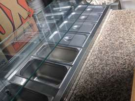 F.E.D. GNS1300E Three Door Salad Marble Prep Top - picture0' - Click to enlarge
