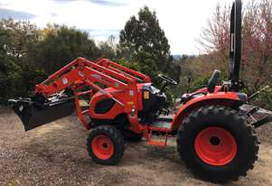 Like New Kioti CK4210 4-in-1 Front Loader with Smudge Bar