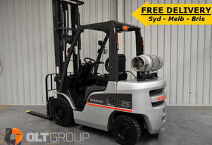 Nissan 2013 2.5 Tonne Forklift 4.5m Lift Height Sideshift Fork Positioner
