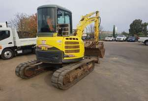 USED YANMAR VIO55-5B EXCAVATOR WITH FULL A/C CABIN, QUICK HITCH, 4 BUCKETS AND RIPPER ATTACHMENT. VE