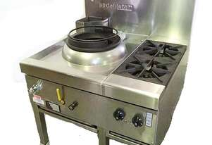 Goldstein CWA1B2 Single Ring Gas Chinese Wok + 2 Burner
