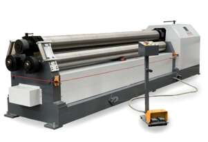 3100mm x 8mm Heavy Duty Plate Rollers With Stub Rollers & Digital Top Roller Position