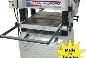 T-20S Thicknesser 508 x 200mm (W x H) Material Capacity  Includes Spiral Cutter Head with Carbide In