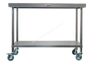 SIMPLY STAINLESS 2400Wx700Dx900H MOBILE BENCH