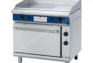 Blue Seal Evolution Series GPE506 - 900mm Gas Griddle Electric Static Oven Range