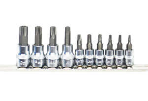 A71220 - 10 PC TAMPER PROOF TORX® BIT SOCKET SET