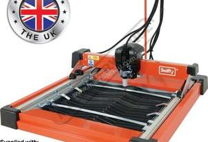 SWIFTY Compact CNC Plasma Cutting Table Water Tray System, Unimig Razor Cut 45 Cuts up to 8mm
