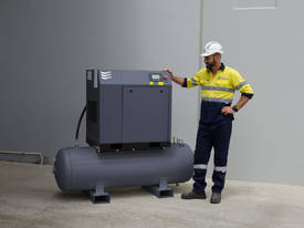 7.5kW (10HP) Screw Compressor on Receiver  - picture1' - Click to enlarge