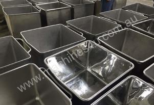 AUSMADE MB-200 - 200L Stainless Steel Mobile Bin