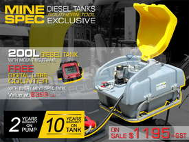 200L Diesel Fuel Tank 12V with mounting Frame TFPOLYDD - picture0' - Click to enlarge