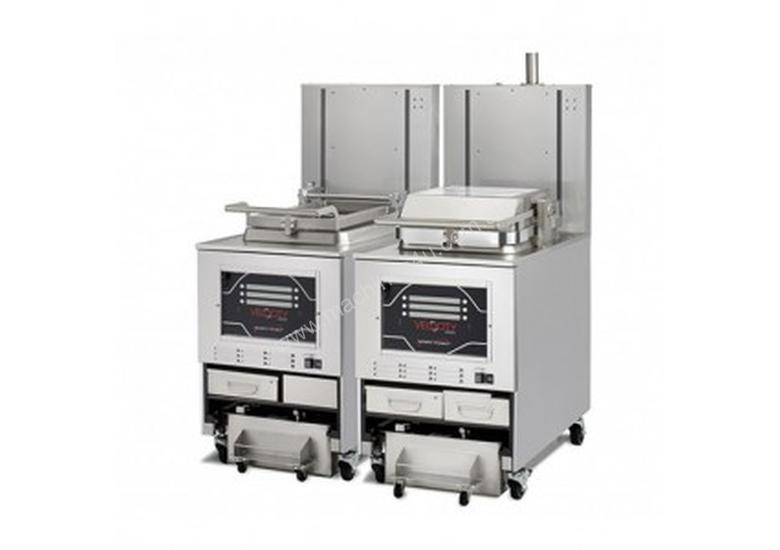 PXE 100 VELOCITY Eight Head - Automatic Filtering Pressure Fryer