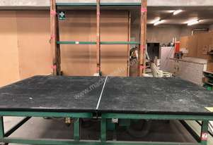 Glass Cutting Table & 2 x Free Fall Racks