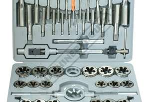 T015 Imperial Alloy Steel Tap & Die Set - 45 Piece UNC & UNF