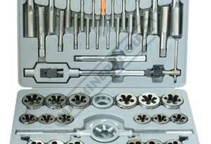 T015 Imperial Alloy Steel Tap & Die Set - 45 Piece UNC & UNF 1/4