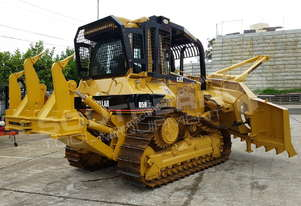 D5N XL Bulldozer with Stick Rake & Tree Spear DOZCATM