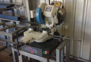 MACC Cold saw with bench and roller bed