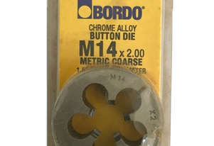 Bordo Button Die M14 x 2.00 Metric Course Metal Thread Cutting Tools