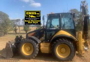 2007 CAT 444E Backhoe, brand new engine, attachments.  MS485