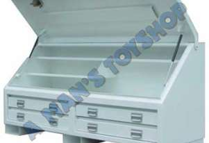 STEEL TRUCK TOOLBOX 4 DRAWER 1770MM LONG