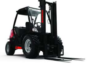 1.8tons Manitou rough terrain forklift with triplex free-lift container mast