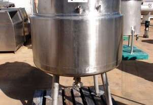 Stainless Steel Jacketed Mixing Tank, Capacity: 500Lt