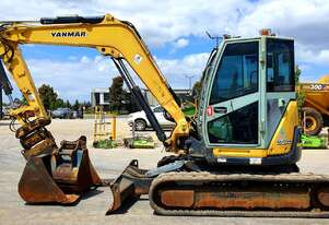 YANMAR VIO80 8T EXCAVATOR 2013 WITH TILT HITCH AND 3770 HOURS
