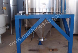 Powder Hopper (Stainless Steel) Capacity 0.8 Cu Mt.