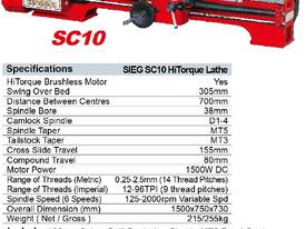 SIEG SC10/700 HiTorque Gear Head Lathe - picture1' - Click to enlarge