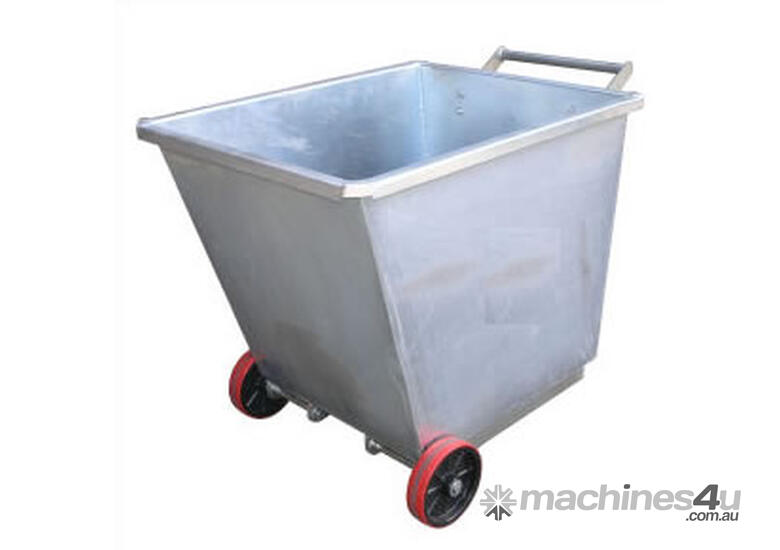 Light Weight Forklift Skip Bin 0.35m2 with Wheels (Perth)